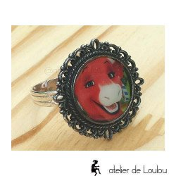 cow ring   bague vache   bague réglable   french creator ring