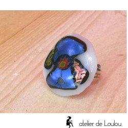 bijou cahors | bague fusion | blue ring