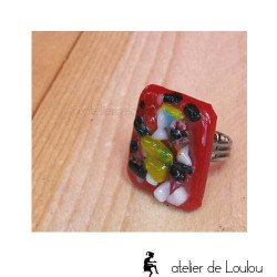 bijou coloré | bague couleur | melting pot ring