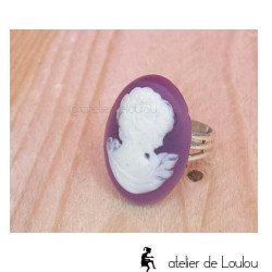 Bague violet | cameo jewel