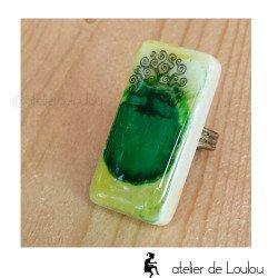 Bague vert | bague réglable| green ring