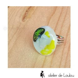 bijou rond | bague jaune | melting pot ring