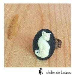 Achat bague fantaisie | cat jewel ring
