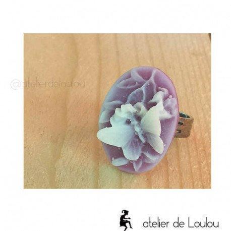 Bague violet | cameo jewel