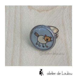 cat ring | bague chat | bague fait-main