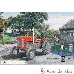 Accessoire déco tracteur   tôle émail tracteur