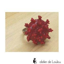 Achat bague corail   acheter bague rouge