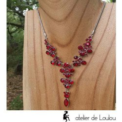 collier rouge  collier fantaisie rouge