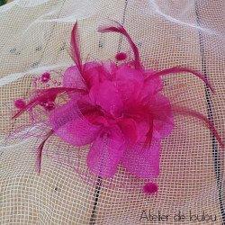 chapeau fushia | broche mini chapeau vintage