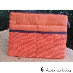 pochette orange   achat pochette orange