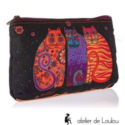 Trousse Laurel burch | achat pochette chat