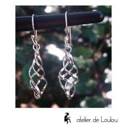 achat bijou argent spirale | acheter boucles d'oreilles argent spirales