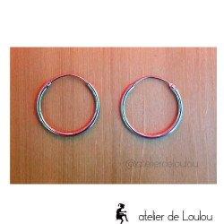 boucles d'oreilles créoles argent | acheter boucles argent anneaux