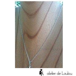 chaîne figaro argent 45 cm | chaîne argent 45 cm
