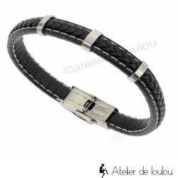 achat bracelet noir homme | bracelet pour homme noir