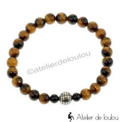 Acheter bracelet oeil tigre | Bracelet homme perle