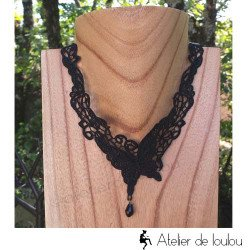 Acheter collier gothique | collier noir gothique
