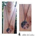 Collier rond métal arbre de vie