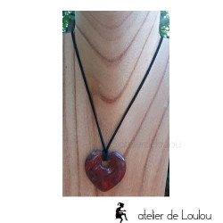 collier pierre minéral coeur | collier romantique coeur