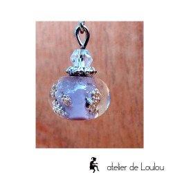 Boucle oreilles violet | bijou artisanal violet