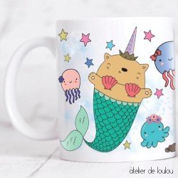 mug mer | tasse sirène | tasse déjeuner licorne