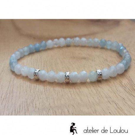 Achat bracelet pierres semi précieuses fait main