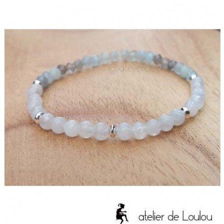Bracelet pierres de lune | achat bracelet pierre lune