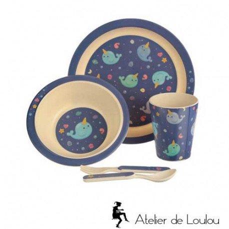 Vaisselle bambou | achat cadeau bébé utile