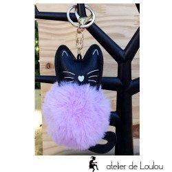 porte clé chat violet | cat keychain