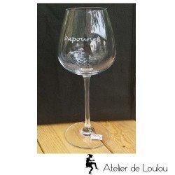 acheter verre papa | verre à vin gravé cristal