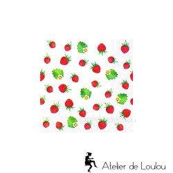 serviette cocktail fraises | serviette papier fraise
