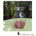 Vase fleurs peint à la main