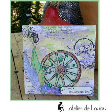 carte postale anniversaire | achat carte champêtre