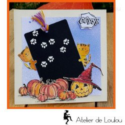 carte postale halloween | achat carte chat