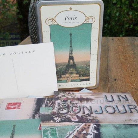Paris postcard | carte rétro | carte paris | carte tour eiffel