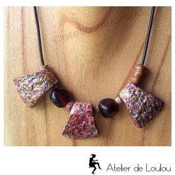 collier terre | collier marron | collier vintage