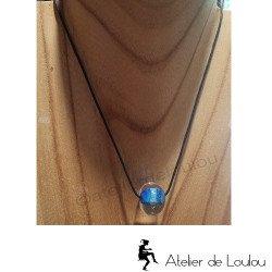 achat collier artisanal | acheter collier perle bleu