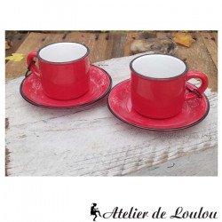 acheter tasses à café rouge   tasse rétro