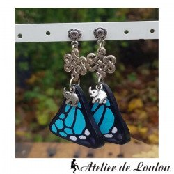 boucle oreille papillon | boucle éléphant