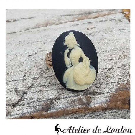 Bague camee noire | cameo jewel