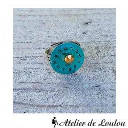 bijou cahors | bague turquoise| blue steampunk ring