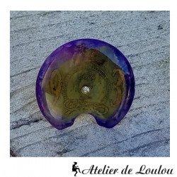 bijou steampunk   bague violet  purple steampunk ring