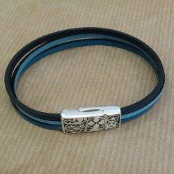 fête des pères   bracelet cuir homme   bracelet personnalisé