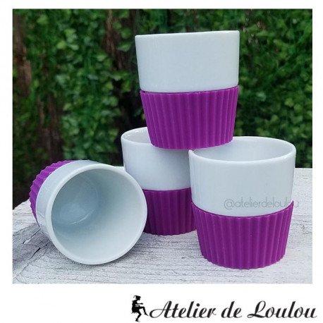 tasse café violet | tasse silicone