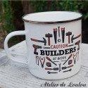 Mug métal bricoleur