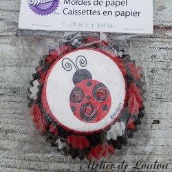 cupcake Wilton | ladybug cupcake