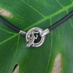 collier noir | collier fantaisie gecko