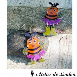 boucles oreilles abeille| bijou abeilles