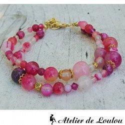 bracelet swarovski | bracelet perle rose