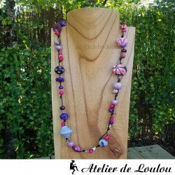 collier multicolore original | collier perle multicolore